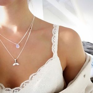 Jewelry - 4 for $25 Mermaid tail stone layered necklace